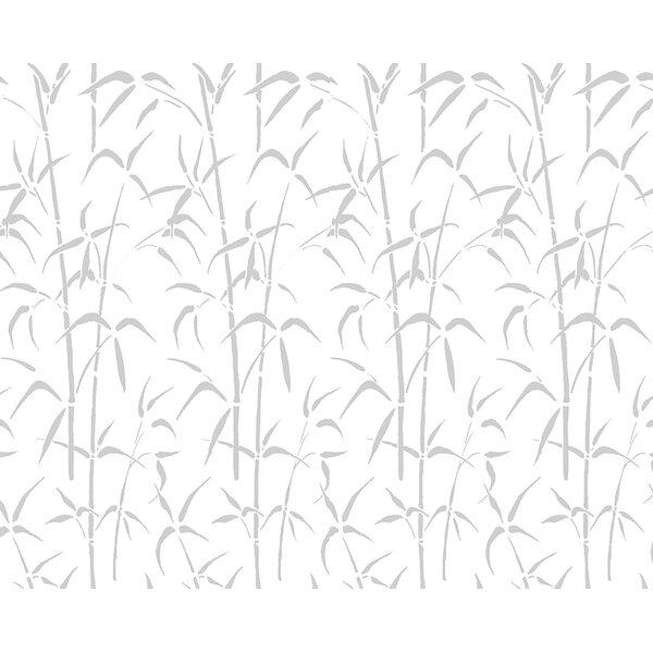 Walid Bamboo Cling Privacy Window Film by World Menagerie