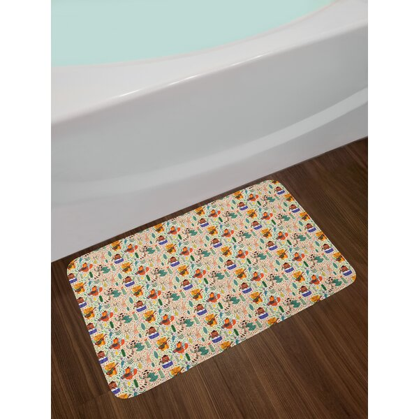 Jungle Africa Bath Rug by East Urban Home