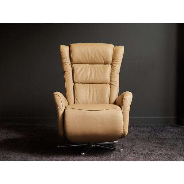 Litzy Leather Manual Swivel Recliner by 17 Stories