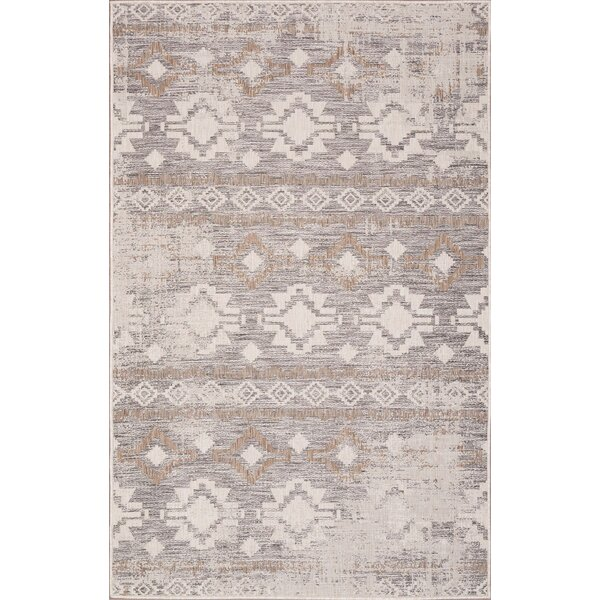 West Drive Ivory/Sand Indoor/Outdoor Area Rug by Millwood Pines