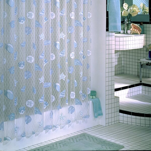 Brincken Vinyl Seaside Shower Curtain by Highland Dunes