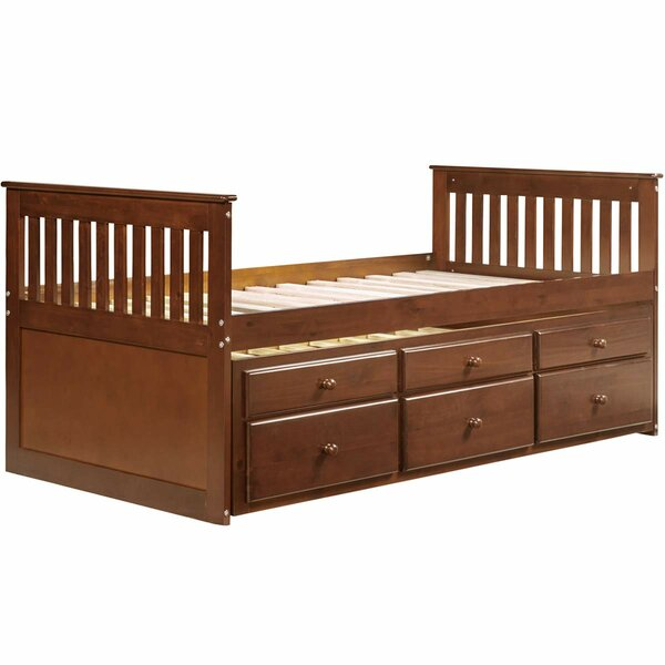 Annice Captains Twin Bed with Trundle and Drawers by Harriet Bee