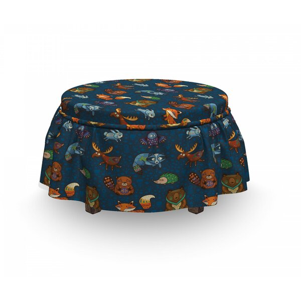 Jungle Animals Ottoman Slipcover (Set Of 2) By East Urban Home