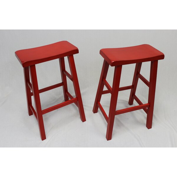 Lynnwood 29 Bar Stool (Set of 2) by Laurel Foundry Modern Farmhouse