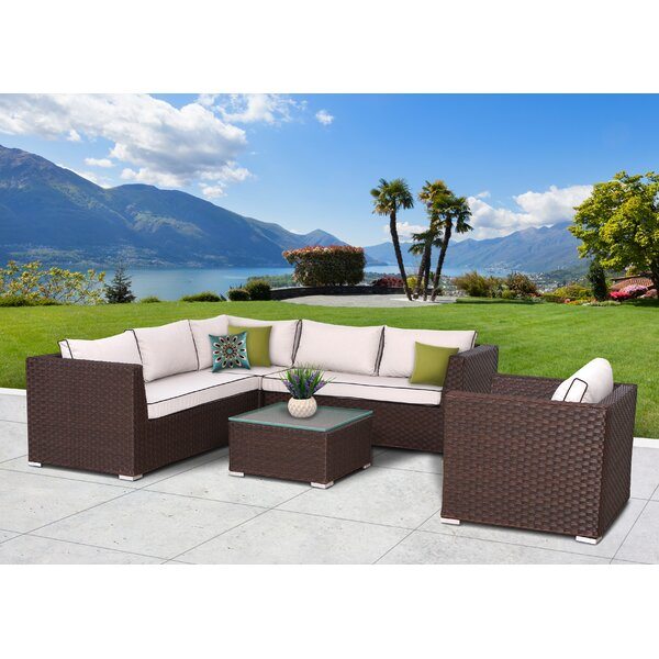 Mesquite 5 Piece Sectional Set with Cushions by Bay Isle Home