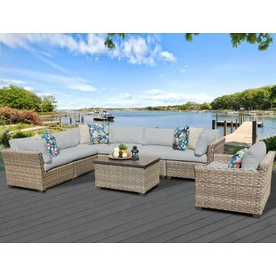 Monterey 8 Piece Sectional Seating Group with Cushions ByTK Classics
