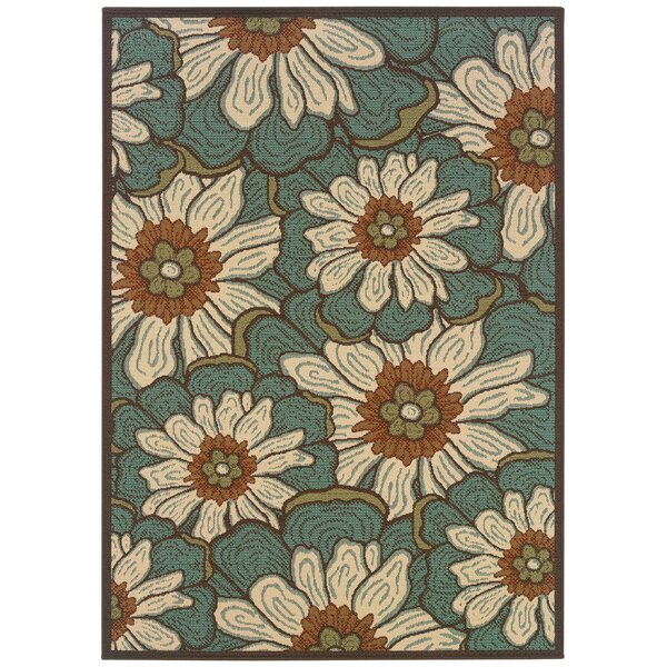 Newfield Blue/Brown Indoor/Outdoor Area Rug by Threadbind