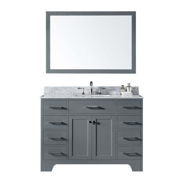 Cassel 48 Single Bathroom Vanity Set with Mirror by Highland Dunes