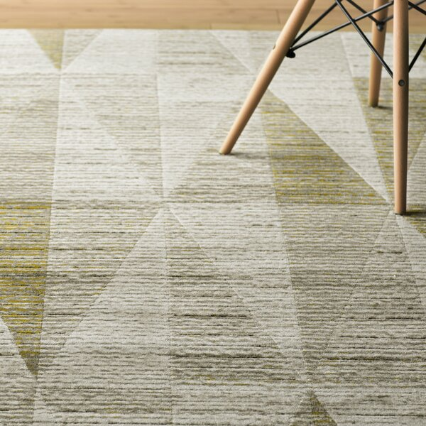 Marnisha Light Gray/Gold Area Rug by Langley Street