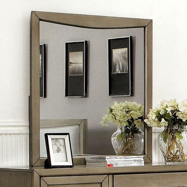 Grigor 3 Drawer Dresser with Mirror by Wrought Studio