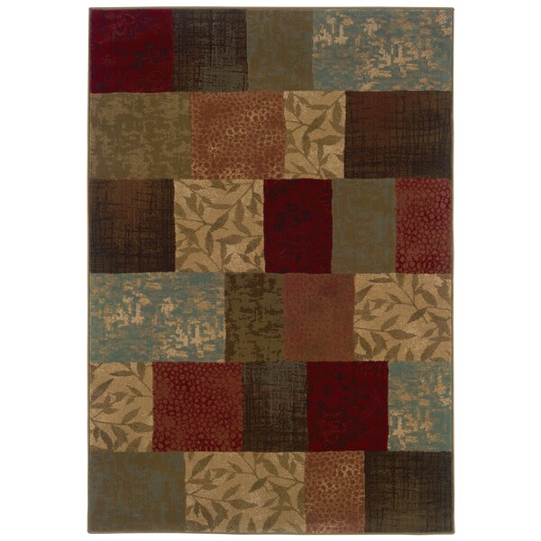 Matteson Green/Red Area Rug by Red Barrel Studio