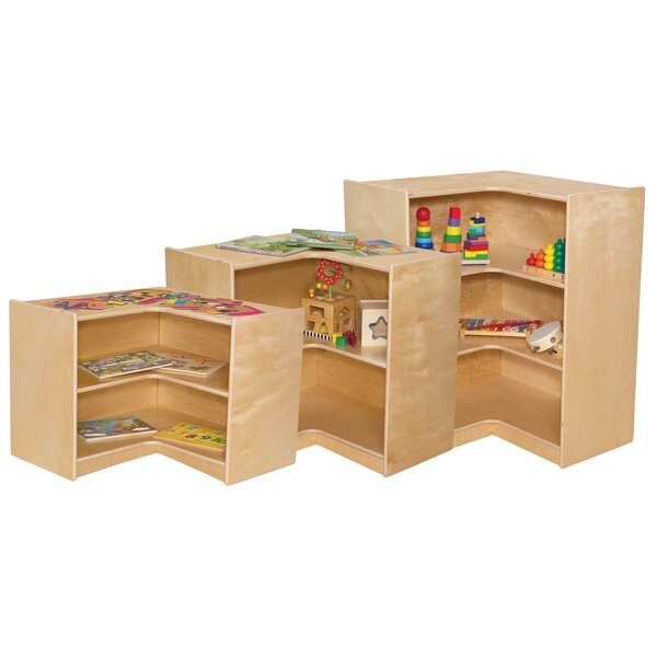 Corner Shelving Unit by Wood Designs