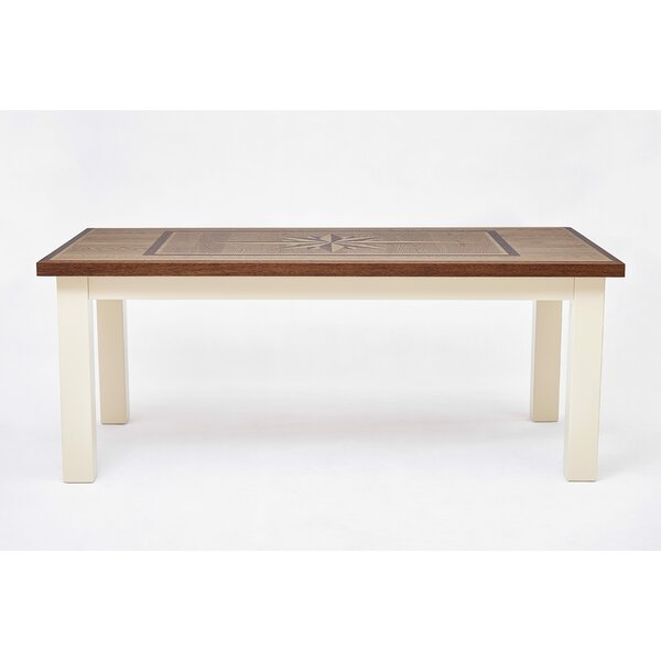 Shunk Wind Rose Solid Wood Dining Table by Breakwater Bay
