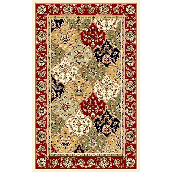 Barton Red/Ivory Area Rug by Astoria Grand