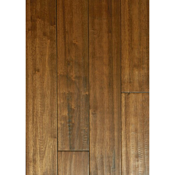 4 Solid Hevea Hardwood Flooring in Scraped Leather Bound by Maritime Hardwood Floors