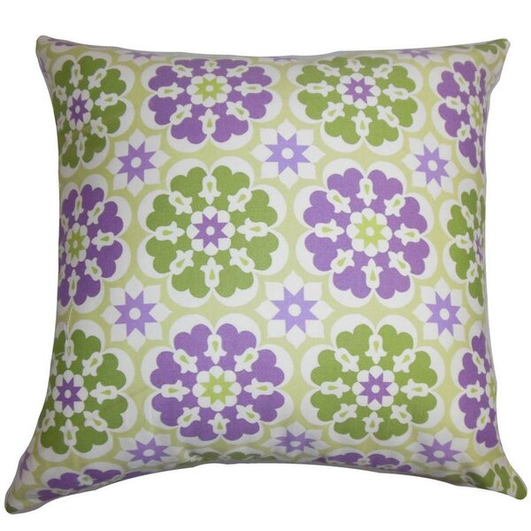Eavan Floral Cotton Throw Pillow by The Pillow Collection