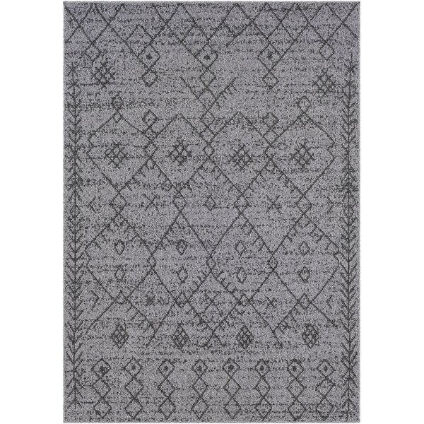 Hudgens Distressed Gray/Charcoal Area Rug by Laurel Foundry Modern Farmhouse