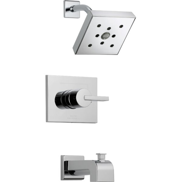 Vero Diverter Tub and Shower Faucet Trim with Lever Handle and Monitor by Delta