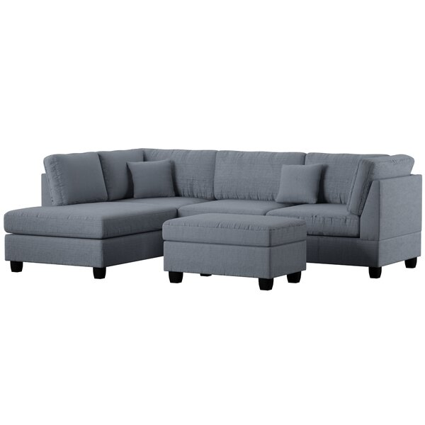 Bibler Sectional with Ottoman by Mercury Row