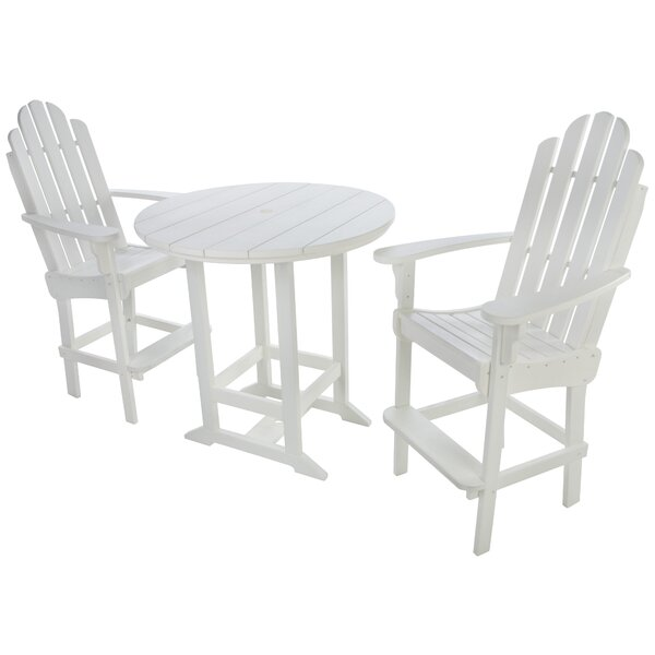 Carroll 3 Piece Bistro Set by Highland Dunes