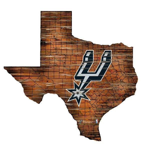 NBA Spurs Distressed State Wall Décor by Fan Creations