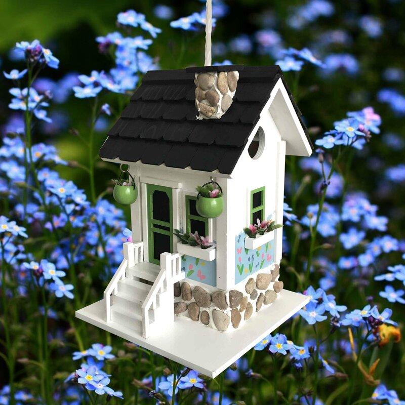 Home Bazaar Hatchling Series Primrose Cottage 9 75 In X 7 In X 7 In Birdhouse Wayfair