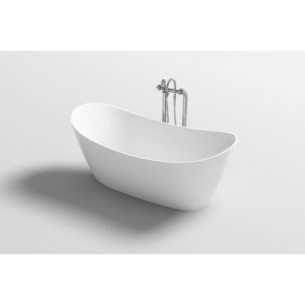 Bolsena 67 x 31.5 Freestanding Soaking Bathtub by Kokss