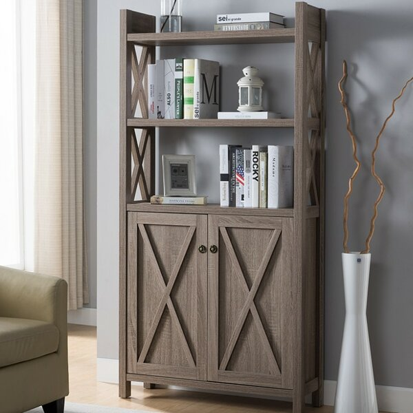 Houlihan X Frame Paneled Etagere Bookcase by Red Barrel Studio
