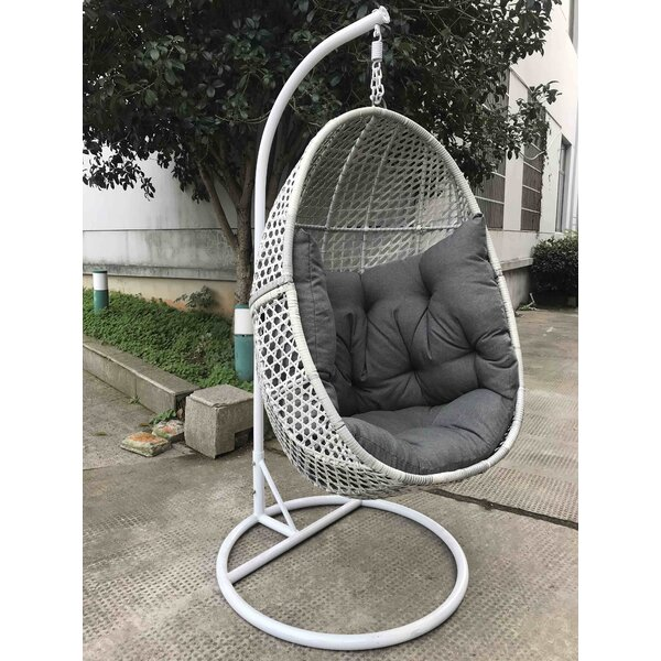 Myrie Patio Egg Swing Chair With Stand By Bungalow Rose