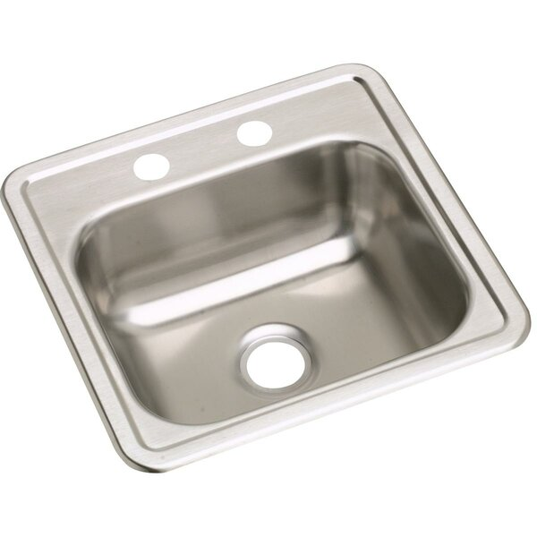 Dayton 15L x 15W Drop-In Kitchen Sink by Elkay
