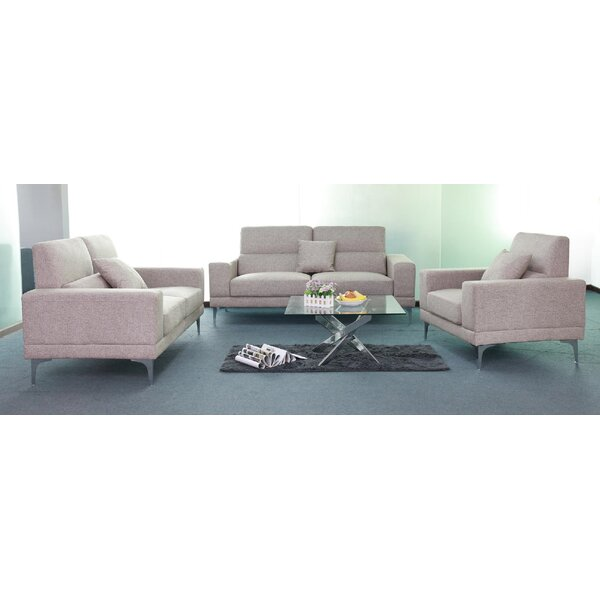 Brookford 3 Piece Living Room Set by Orren Ellis Orren Ellis