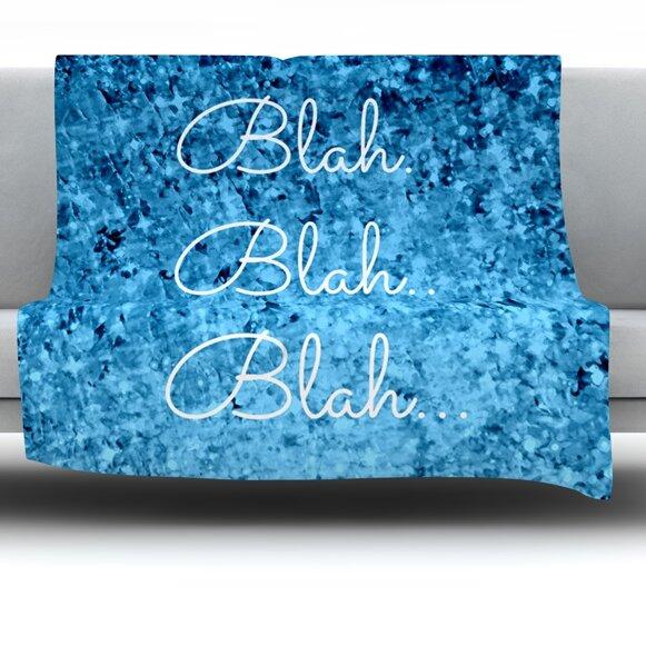 Blah Blah Blah Fleece Throw Blanket by East Urban Home