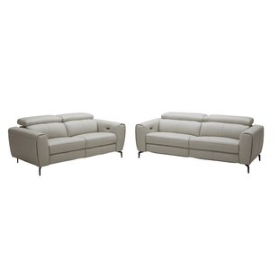 Nakale Leather Reclining Loveseat Orren Ellis