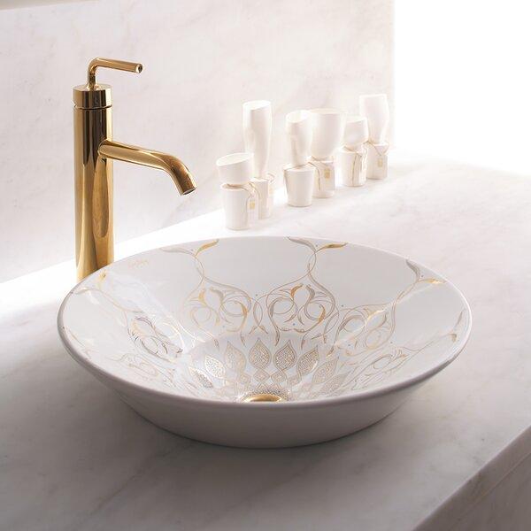 Caravan Ceramic Circular Vessel Bathroom Sink by Kohler