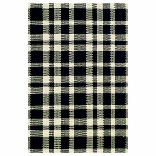 Coupon Hand Woven Cotton Black Area Rug ByDash and Albert Rugs