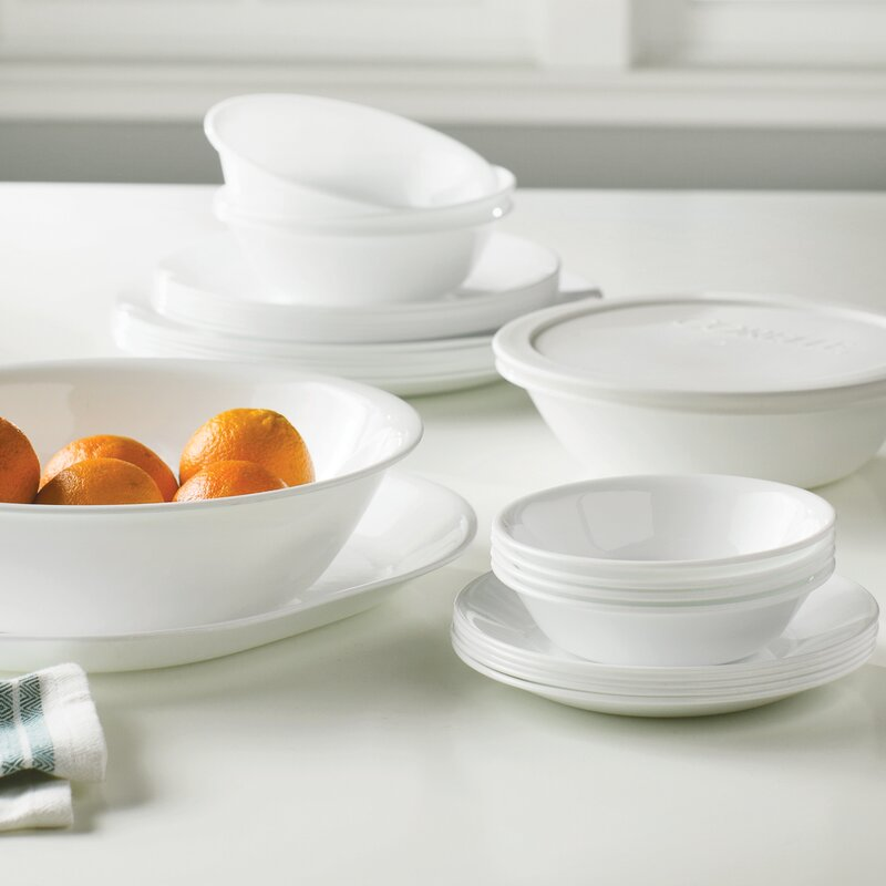 corelle livingware 74 piece dinnerware set, service for 12 & reviews