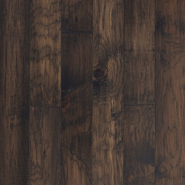 Mountain View 5 Engineered Hickory Hardwood Flooring in Acorn by Mannington