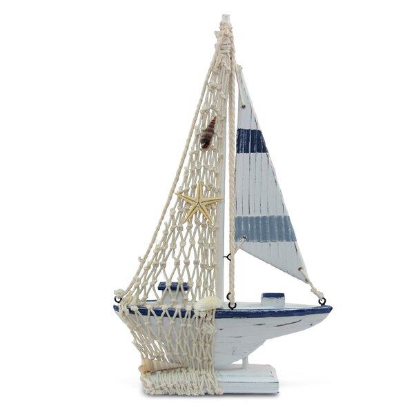 Roxanne Nautical Stripes Boat by Breakwater Bay