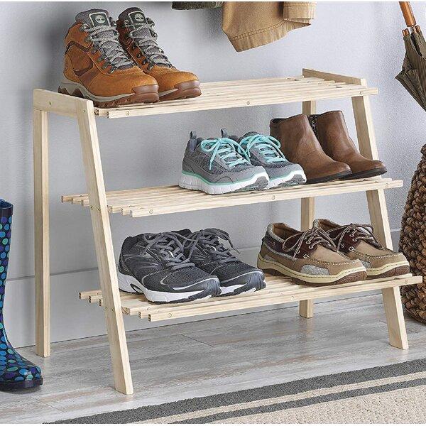 Miriam Wood Shoe Rack by Rebrilliant