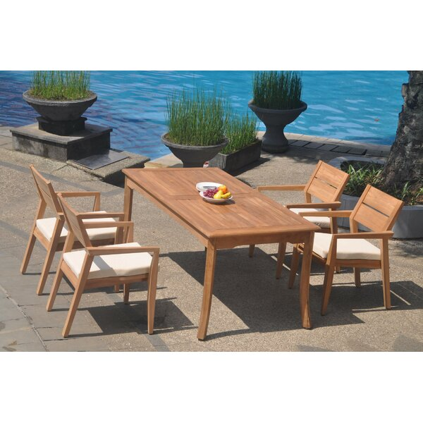 Dore 5 Piece Teak Dining Set by Rosecliff Heights