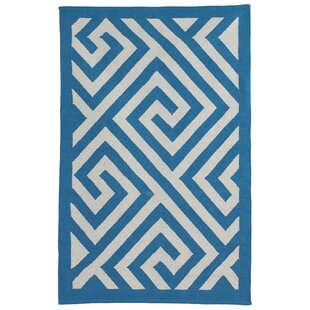 Online Reviews Metro Broadway Enchanting Blue/White Rug By Fab Habitat