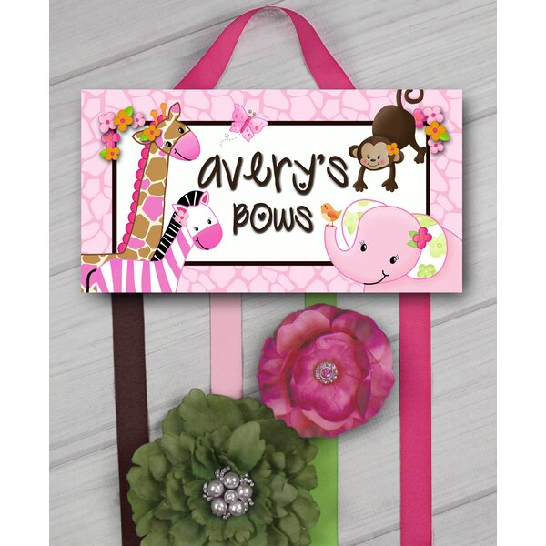 Pink Jungle Personalized Hair Bow Holder by Toad and Lily