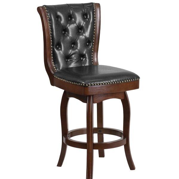 Lueben 26'' Swivel Bar Stool by Astoria Grand