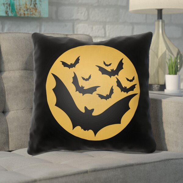 Alviva Bats Indoor/Outdoor Throw Pillow by Ivy Bronx