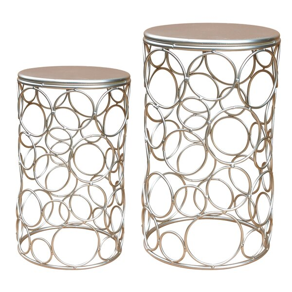 Moxee Metal 2 Piece Nesting Tables By Mercer41