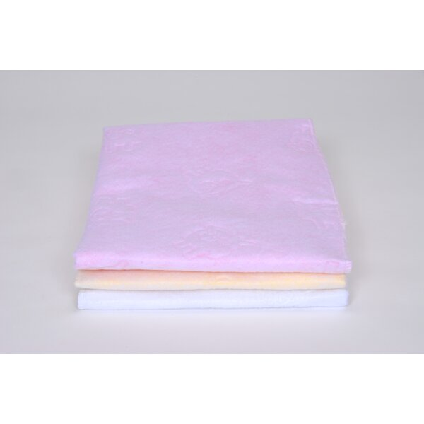 Quilted Fleece Pad in Pink / Yellow / White (Set of 3) by Royal Heritage Home