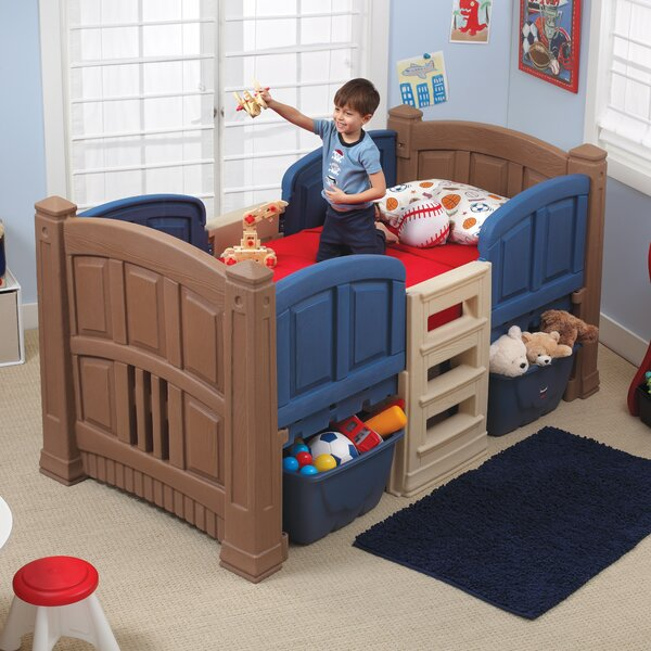 Twin Low Loft Bed with Storage by Step2