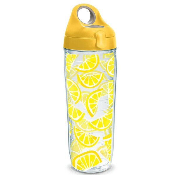 Eat Drink Be Merry Lemon Trend 24 oz. Plastic Water Bottle by Tervis Tumbler