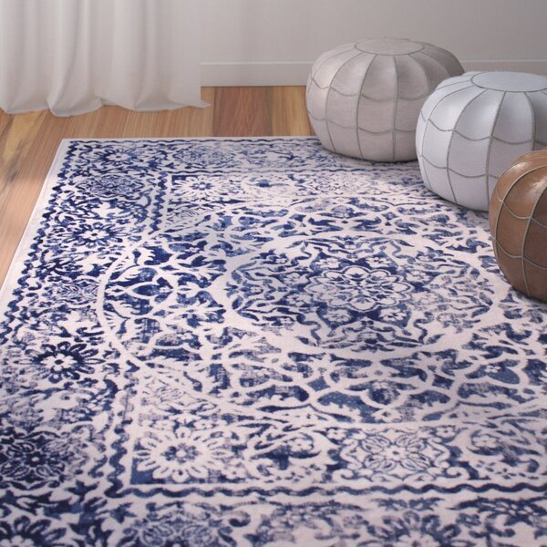 Rosie Blue/Beige Southwestern Area Rug by Bungalow Rose