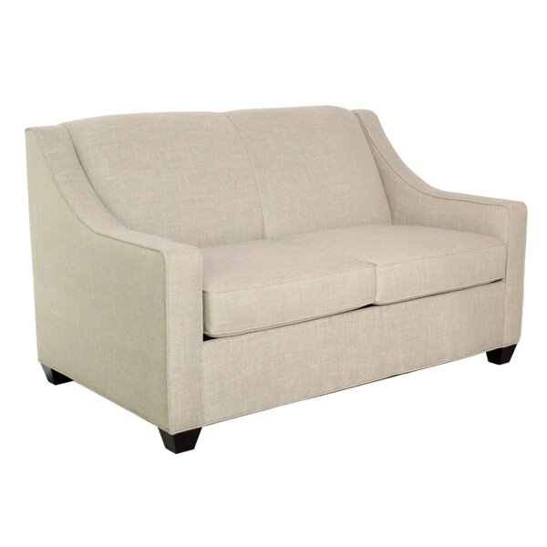 Modern Beautiful Phillips Standard Loveseat by Edgecombe Furniture by Edgecombe Furniture